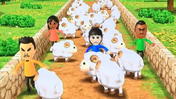 Rin, Haru, Tommy and Saburo participating in Ram Jam in Wii Party
