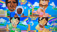 George, Cole, Misaki and Fumiko participating in Cry Babies in Wii Party