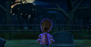 Sandra as a Zombie in Zombie Tag in Wii Party