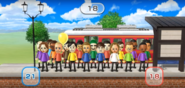 Elisa, Hiromi, Fritz, Misaki, Takumi, Shinnosuke, Abby, Pablo, Kathrin, Asami, Oscar, Hiroshi, and Theo featured in Commuter Count in Wii Party