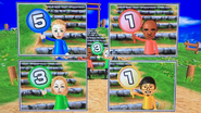 Jessie, Eduardo, Rachel and Shinnosuke participating in Strategy Steps in Wii Party