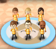 Anna, Silke, Fumiko, Pierre, Rainer, and Matt featured in Swap Meet in Wii Party