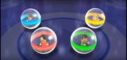 Keiko, Kentaro, and Gabi participating in Crash Balls in Wii Party