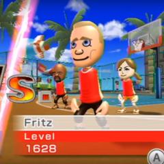 Fritz playing Basketball at High Noon.