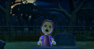 Elisa as a Zombie in Zombie Tag in Wii Party