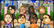 Eva, Siobhan, Jackie, Chris, Elisa, Hiromi, Ai, and Shohei featured in Smile Snap in Wii Party