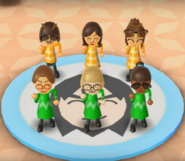 Fumiko, Yoshi, and Nelly featured in Swap Meet in Wii Party