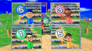 Hiroshi, Shouta and Luca participating in Strategy Steps in Wii Party