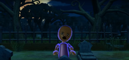Theo as a Zombie in Zombie Tag in Wii Party