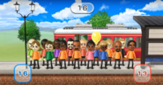 Ian, Lucia, Sarah, Midori, Jackie, Ai, Victor, Andy, Fritz, Sakura, Ashley, Stephanie, Nelly, Matt, Tyrone, and George featured in Commuter Count in Wii Party