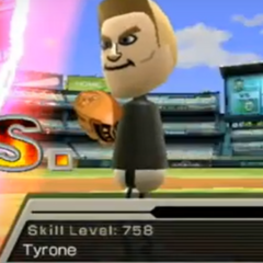 Tyrone pitching in Baseball.