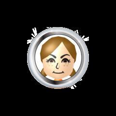 Lucia's badge.