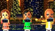 Yoko, Sakura and Matt participating in Suacer Snaps in Wii Party