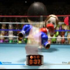 A Boxing game against Elisa