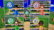 Ren, Abe, Helen and Ai participating in Strategy Steps in Wii Party