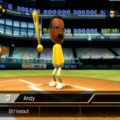 Andy in Baseball.