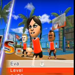 Eva playing Basketball at High Noon.