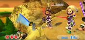 Tommy (left) wearing Purple Armor in Swordplay Showdown