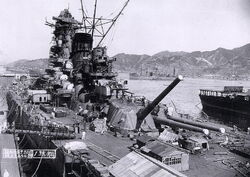 Yamato battleship under construction