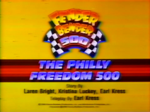 The Philly Freedom 500 Title Card