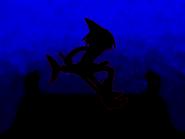 Dark figure at night