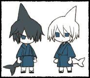 Samekichi and sal as kids