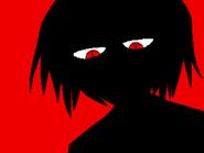 Violent red flashback face
