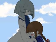 Wada crying in fukamis arms