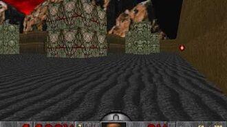 El jugador deja atrás un cohete en E2M8 de Doom.