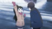 Takanashi asking where is Taneshima's parents
