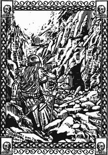 Сигмар идет в пещеру Скаранорака шаггота