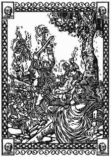 Бьорн защищает свою жену Гризельду .