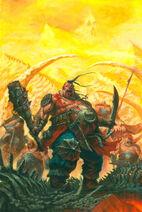 Portada Reinos Ogros 8ª edición por Tze Kun Chin Despota