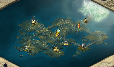 Monk Island Cleft Map