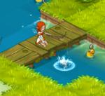 Playing quaquack pond