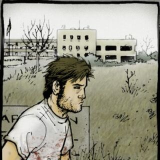Rick marche à l'extérieur de l'hôpital. (<a href=