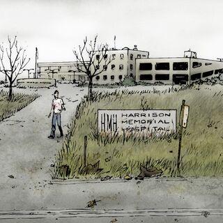 La vue extérieure de l'hôpital. (<a href=