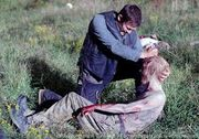Daryl kills walker