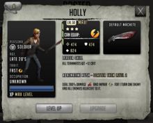 Holly - Tier 3, Level 50 (Max)