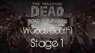 The Walking Dead Road to Survival Woods South Stage 1
