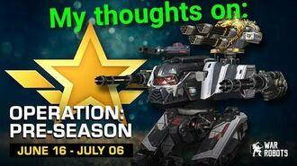 War Robots - Operation Pass - Pre Season 6 (my thoughts)