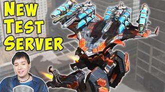New CYCLONE & CATACLYSM Titan Combo - War Robots Test Server Gameplay WR