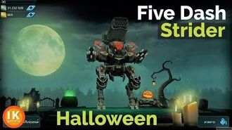 War Robots 5 Dash in Halloween Theme 2 X Aphids Thunder
