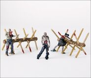 The Walking Dead TV Walker Barrier Building Set 2