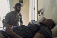 Siddiq and Jimmy in infirmary
