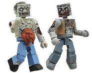 Walking Dead Minimates Series 1 Guts Zombie & Burned Zombie 2-pk