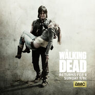Dead Beth being carried