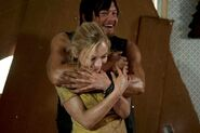 Emily being bear huged by Norman! ♥