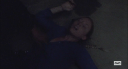 Laura knocked down