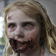 Litttle girl walker face